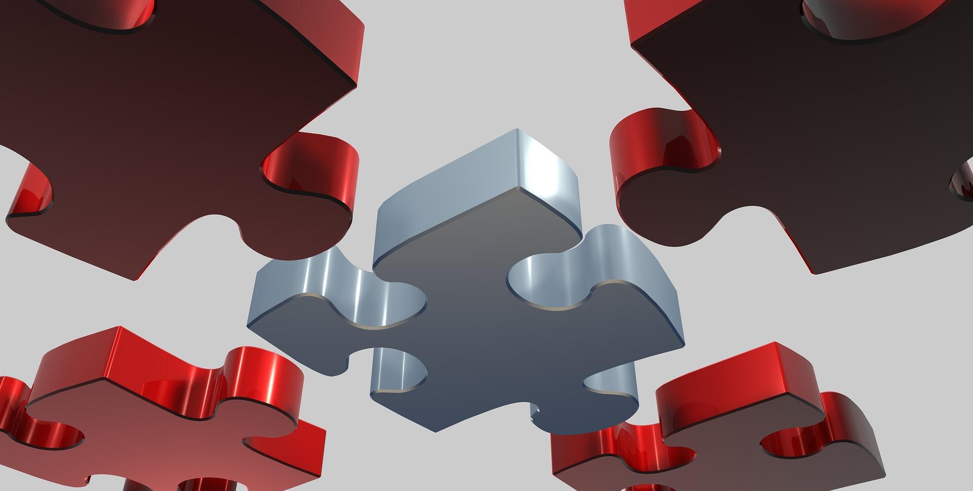 5 pièces de puzzle.